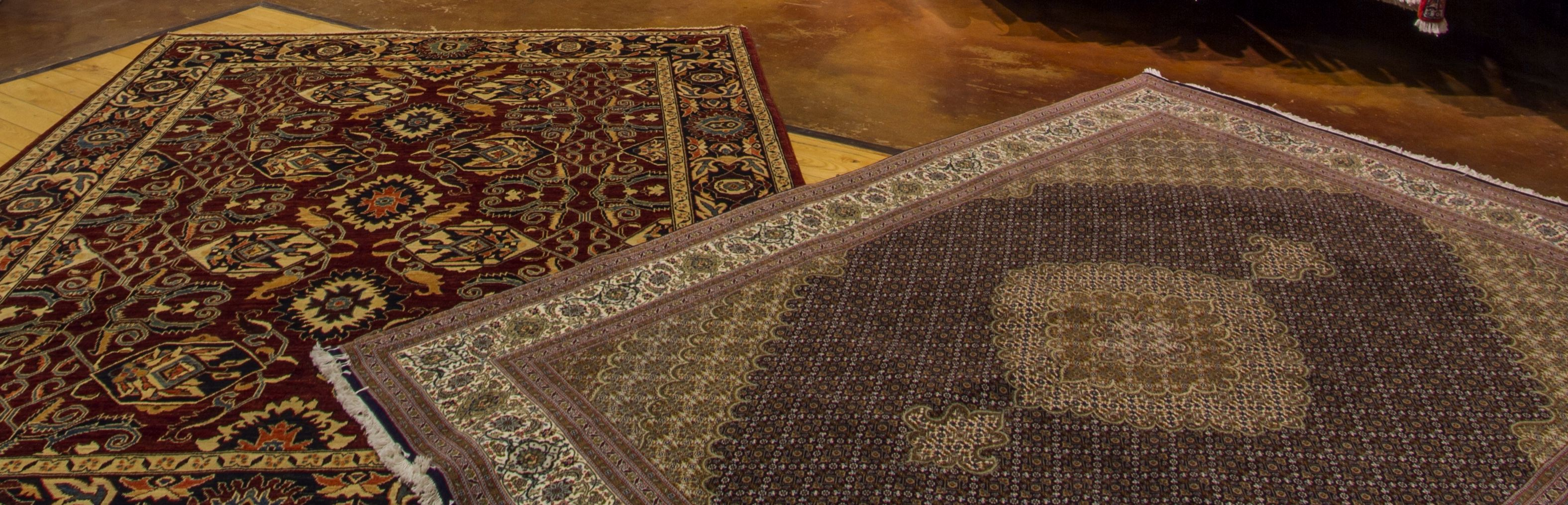 Two rugs on the floor