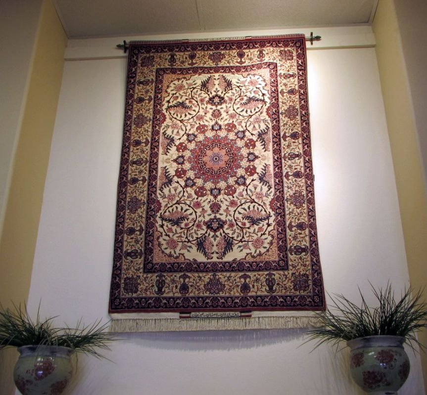 How to hang your rug on the wall.